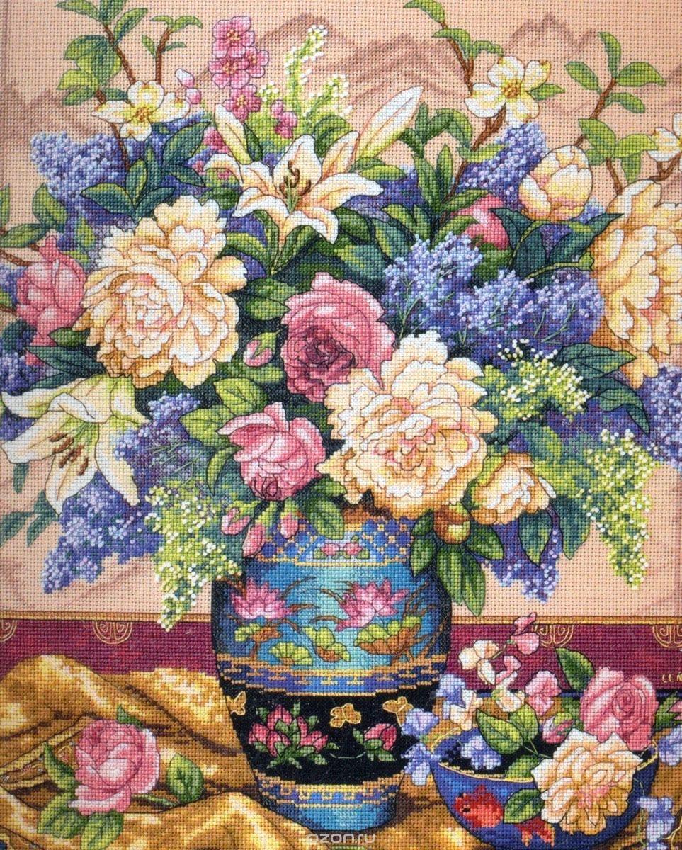 Фото вышивки с цветами 283