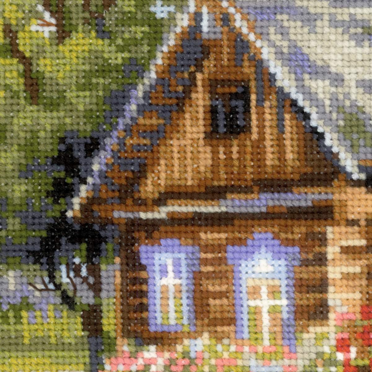Вышивка риолис деревенский полдень