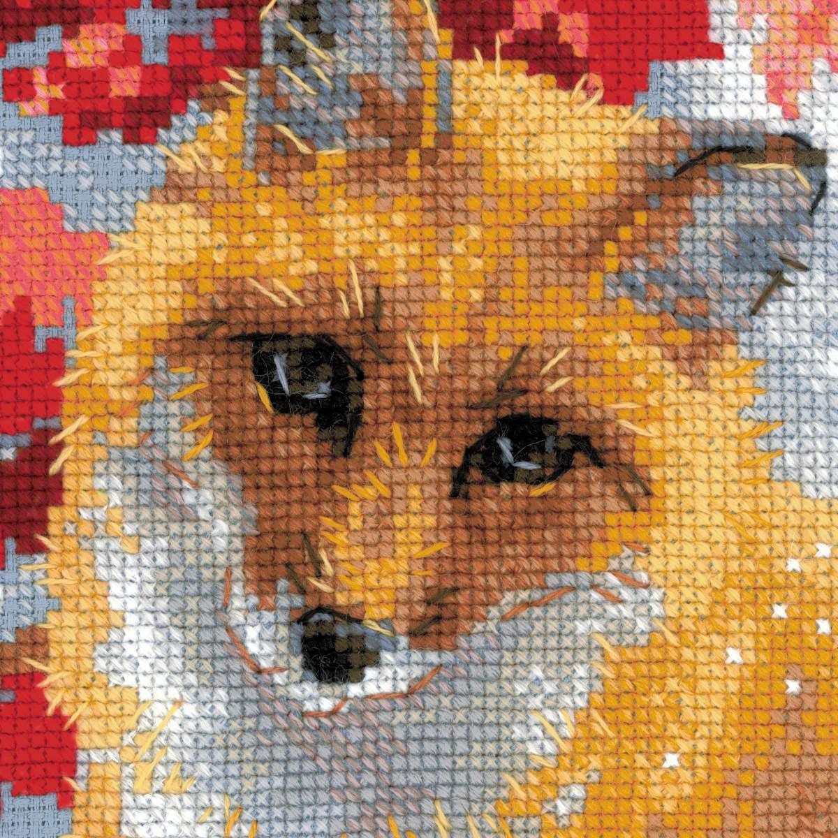Схема для вышивки крестом лиса 52