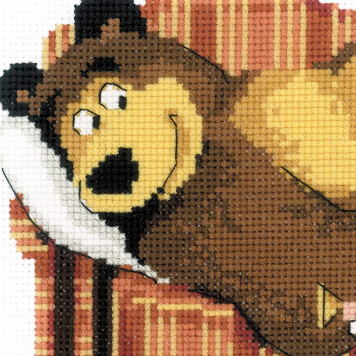Вышивка схем маша медведь 384