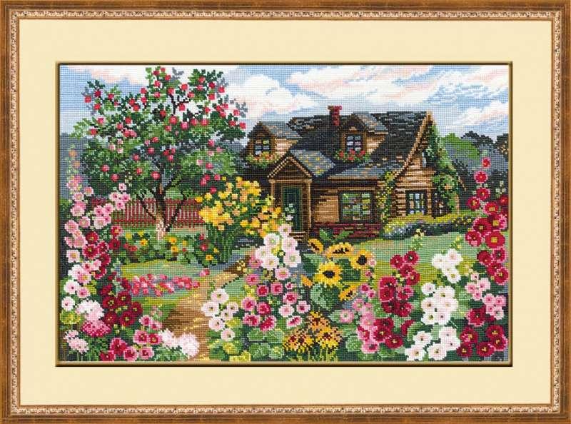 Дом с садом схема вышивки 63